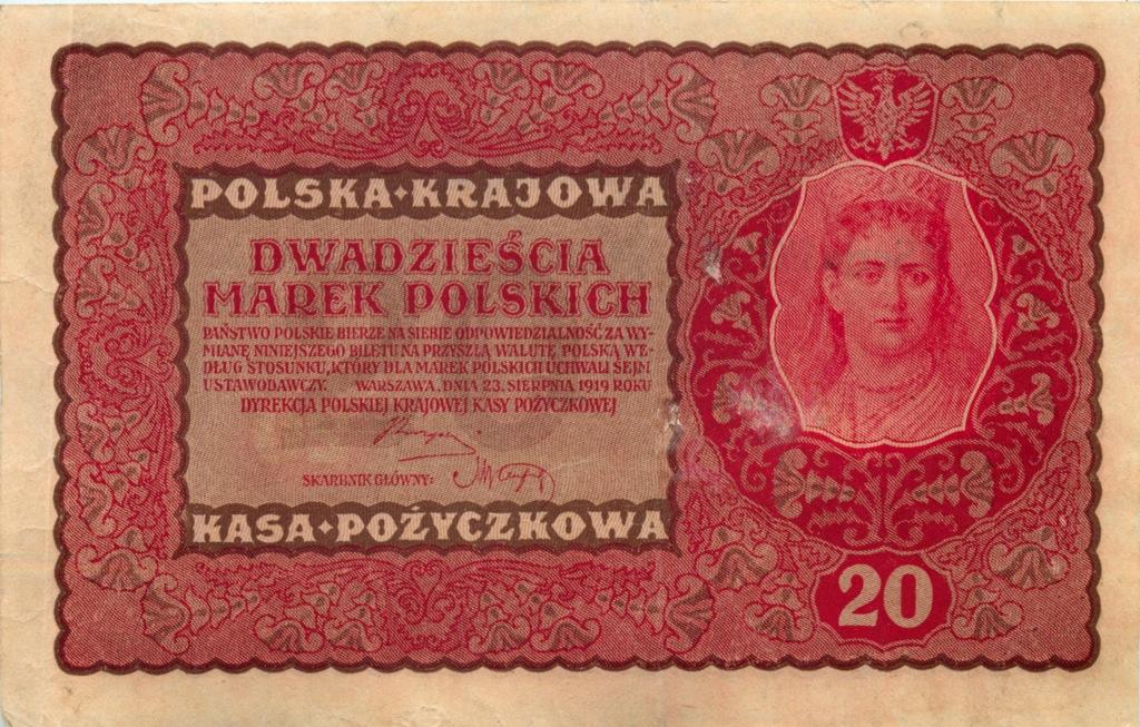 20 марок (немецкая оккупация Польши) 1919 года (Германия)