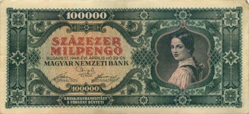 100000 милпенгё 1946 года (Венгрия)