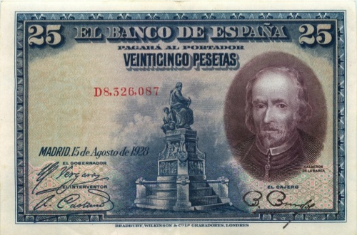 25 песет 19218 года (Испания)