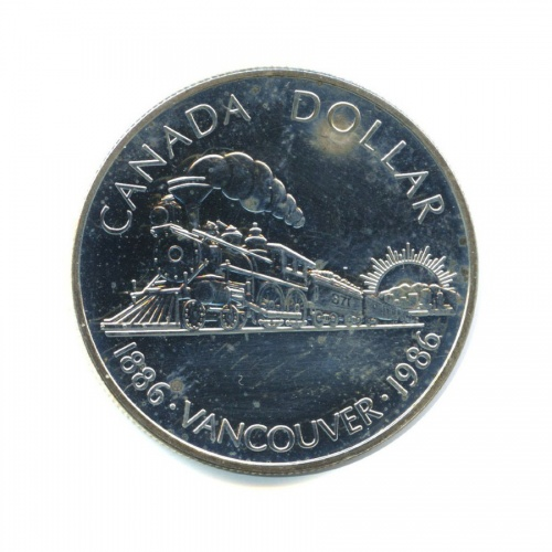 1 доллар — 100 лет городу Ванкувер 1986 года (Канада)