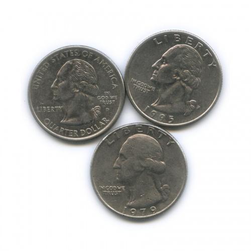 Набор монет 25 центов (квотер) (США)