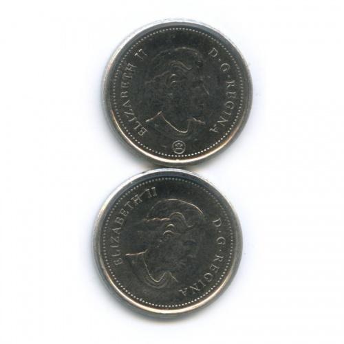 Набор монет 10 центов 2005, 2010 (Канада)