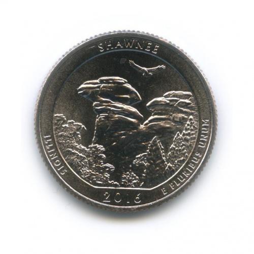 25 центов (квотер) - Национальный парк Шони 2016 года (США)