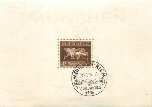 Марка почтовая 1936 года (Германия (Третий рейх))