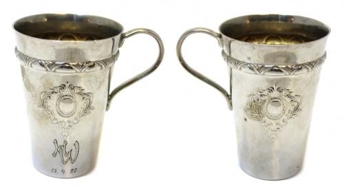 Кружка-чарка (серебрение, Европа, гравировка «HW15.4.28», 9 см)