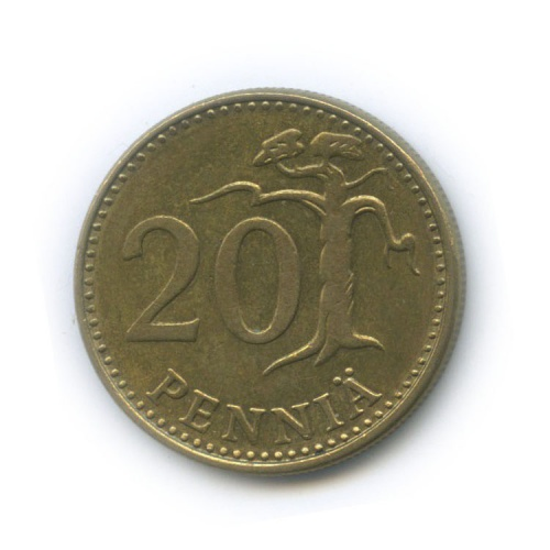 20 пенни 1980 года (Финляндия)