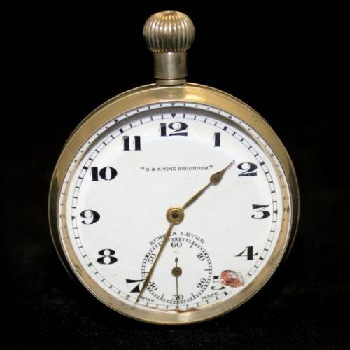 Часы карманные «S. & S. Time Recorder» (рабочие)