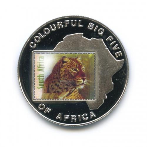 1000 шиллингов - Большая пятерка животных Африки - Леопард, Уганда (серебрение, цветная эмаль) 2001 года