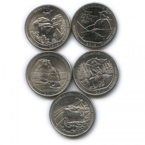 Набор монет 25 центов (квотер) - Парки (США)