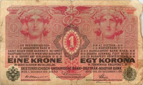 1 крона, Австро-Венгрия 1916 года