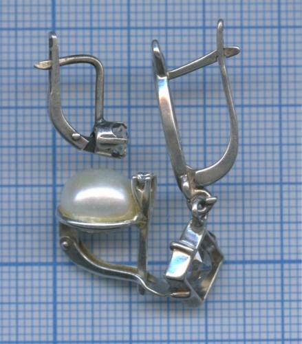 Набор сережек (925, 875 проба серебра)