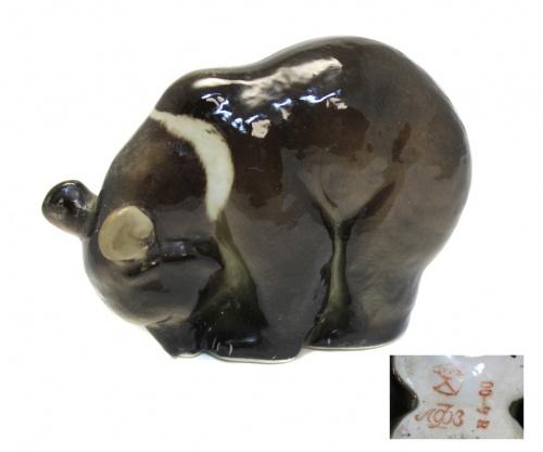 Статуэтка «Гималайский медведь» (фарфор, 10 см) ЛФЗ (СССР)