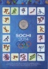 Набор монет 25 рублей - Олимпийские игры, Сочи-2014 (сбанкнотой, вальбоме) 2014 года (Россия)