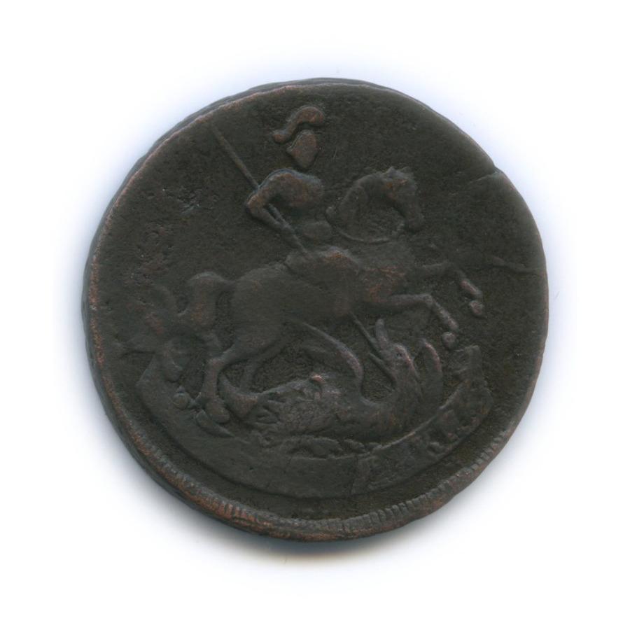2 копейки (перечекан из«облачной» копейки) 1757 года (Российская Империя)