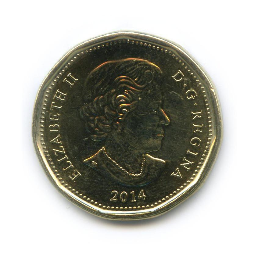 1 доллар — XXII зимние Олимпийские Игры, Сочи 2014 - Лаки луни 2014 года (Канада)