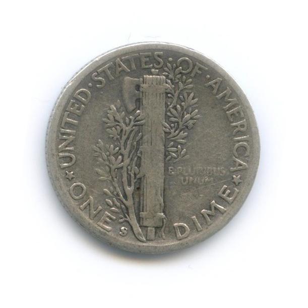 10 центов (дайм) 1942 года S (США)