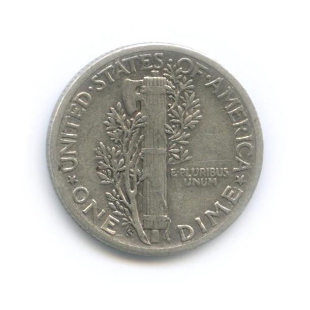 10 центов (дайм) 1944 года S (США)