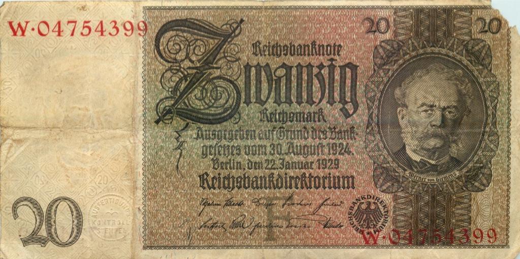 20 рейхсмарок 1929 года (Германия)