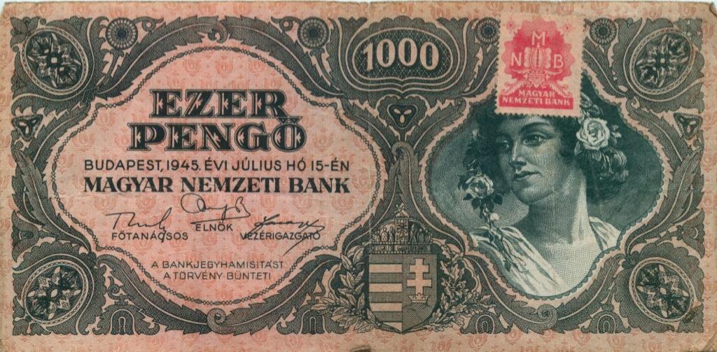 1000 пенгё 1945 года (Венгрия)