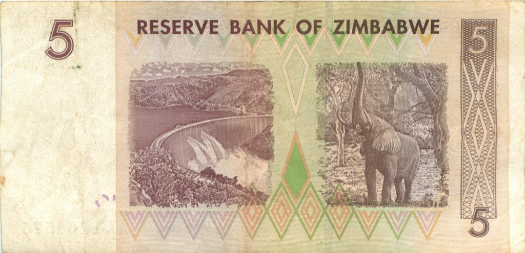 5 долларов (Зимбабве) 2007 года