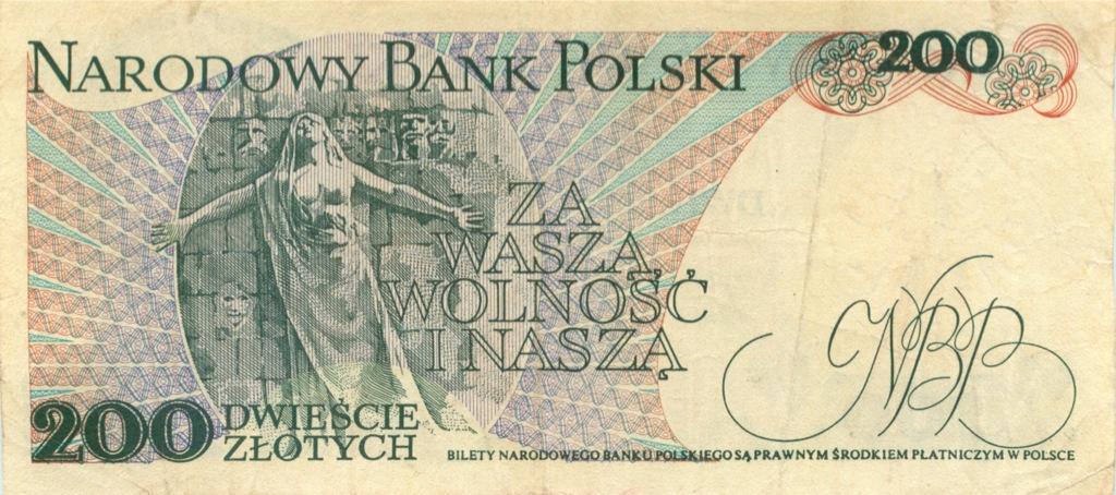 200 злотых 1986 года (Польша)
