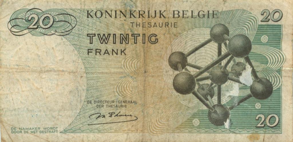 20 франков 1964 года (Бельгия)
