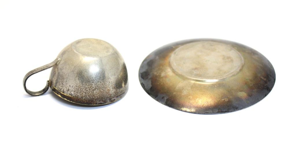 Чайная пара (6×3,5 и11×1,5 см) (СССР)