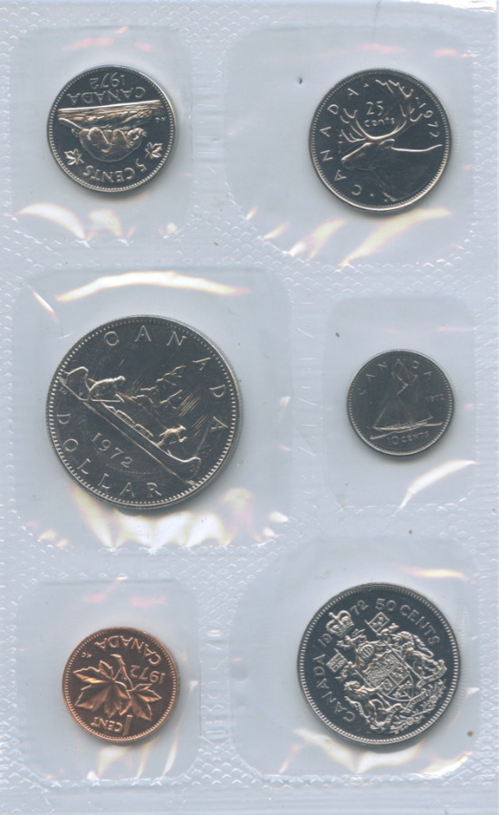 Набор монет (взапайке) 1972 года (Канада)