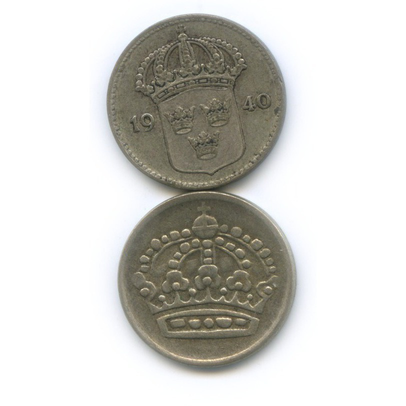 Набор монет 10 эре 1940, 1962 (Швеция)