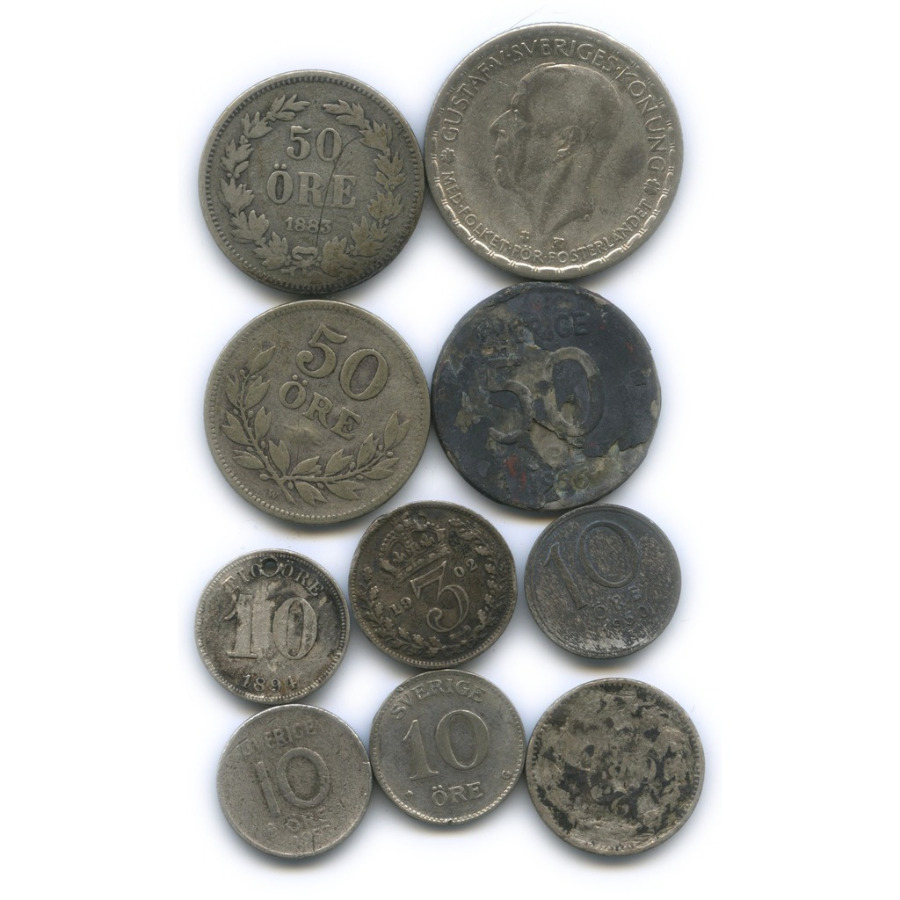 Набор монет (Великобритания, Швеция)