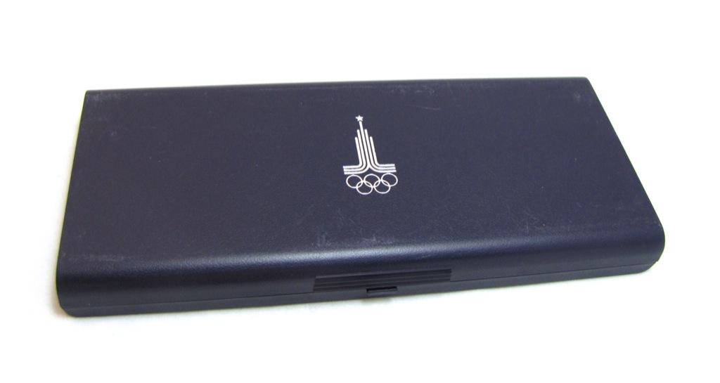Футляр для монет «XXII Олимпийские игры, Москва-1980», синий (Германия)