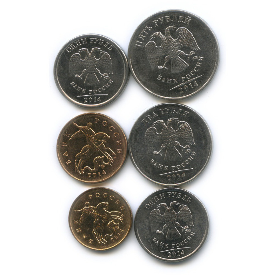 Набор монет России 2014 года ММД (Россия)