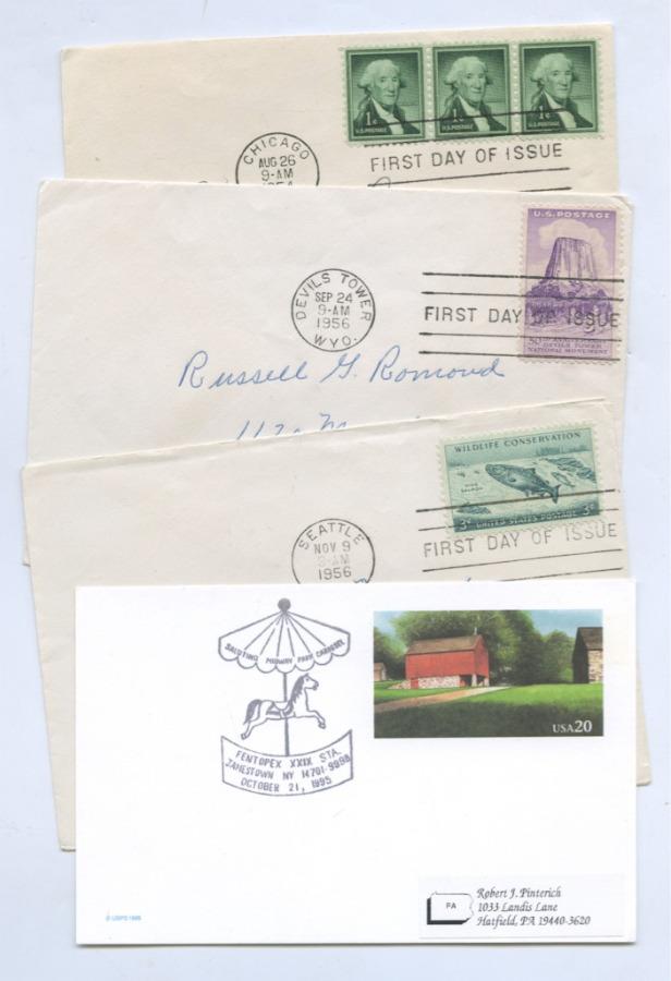 Набор почтовых конвертов (США)