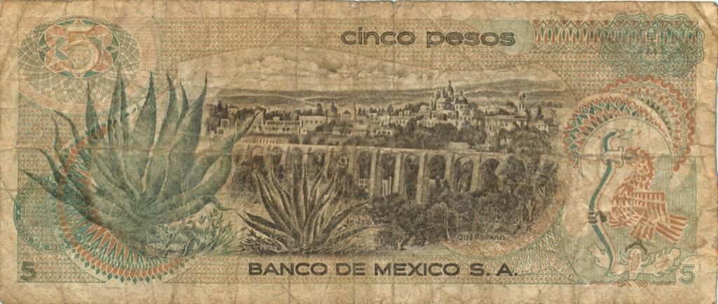 5 песо 1969 года (Мексика)