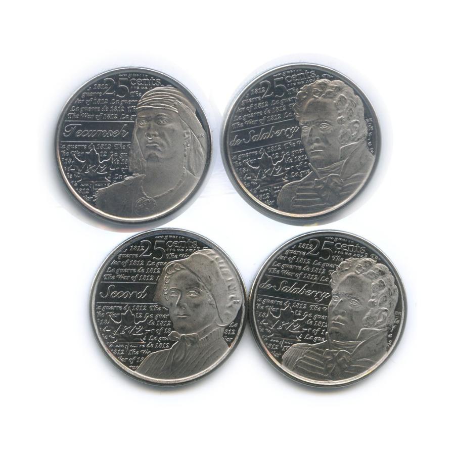 Набор монет 25 центов - Война 1812 года (2 монеты взапайке) 2012, 2013 (Канада)