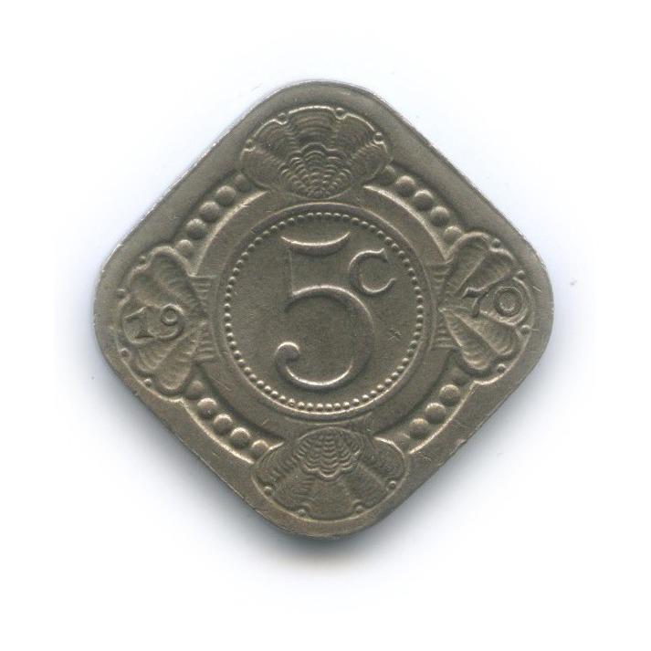 5 центов, Нидерландские Антильские острова 1970 года