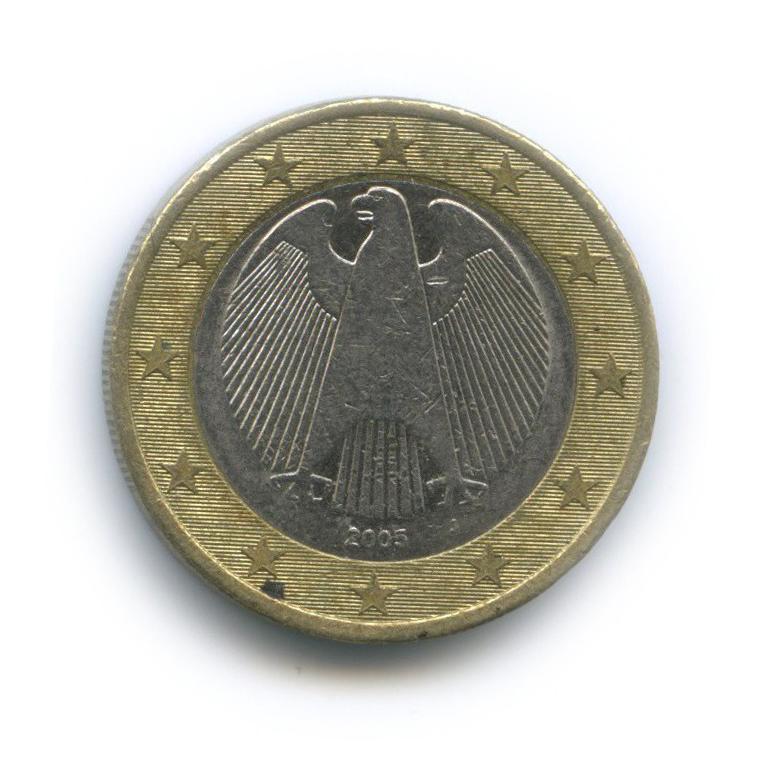 1 евро 2005 года J (Германия)