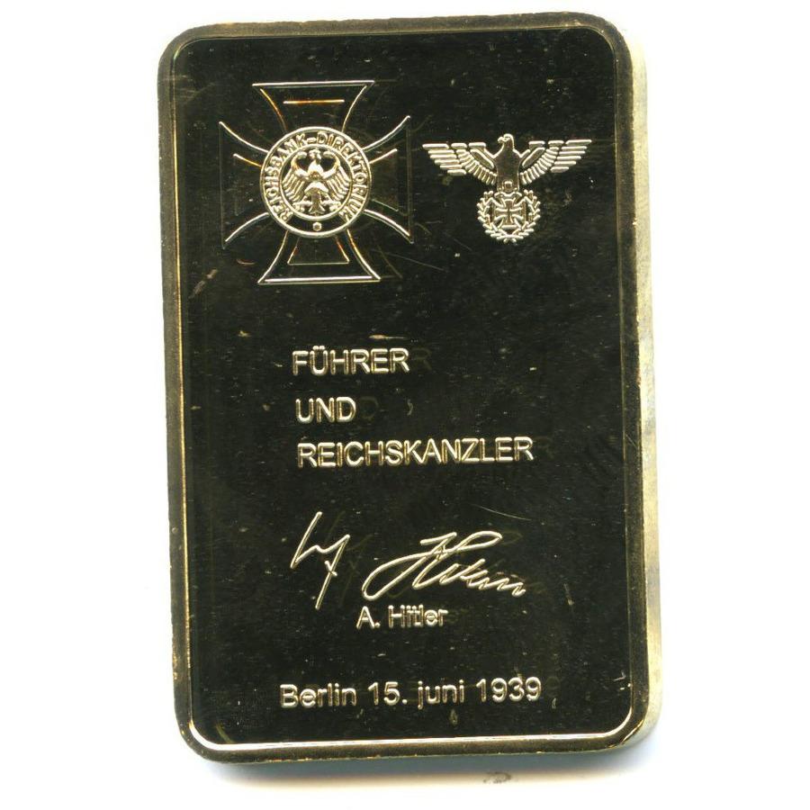 Жетон-слиток «Deutsche Reichsbank»