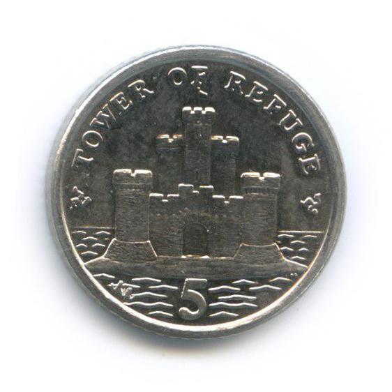 5 пенсов - Крепость-пристанище, Остров Мэн 2013 года