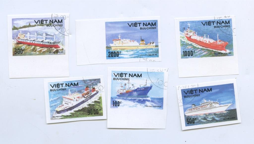 Набор почтовых марок «Корабли» (Вьетнам)