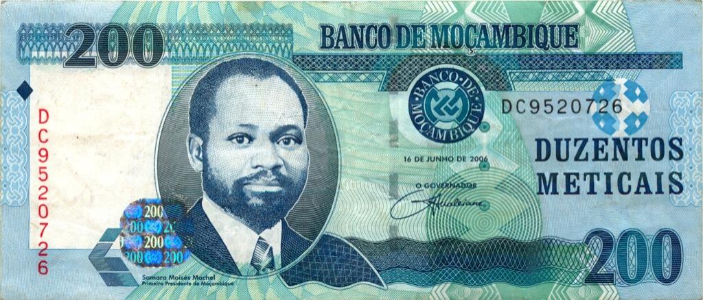 200 метикалов (Мозамбик) 2006 года