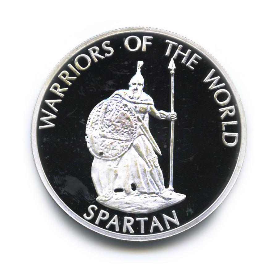 10 франков - Воины мира - Спартанец, Демократическая Республика Конго (серебрение) 2010 года