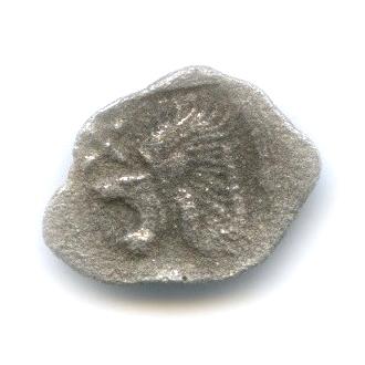 Гемиобол - Мизия (Кизик), V в. до н. э., кабан/лев