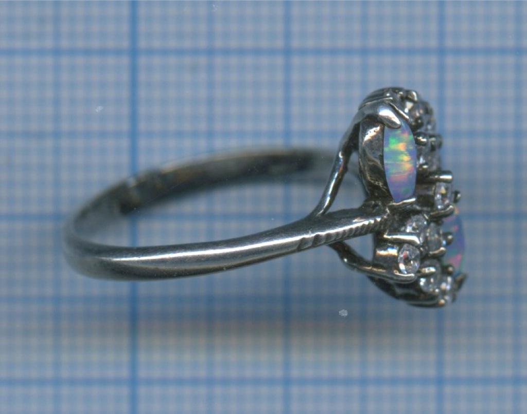 Кольцо (925 проба серебра, сфианитами)