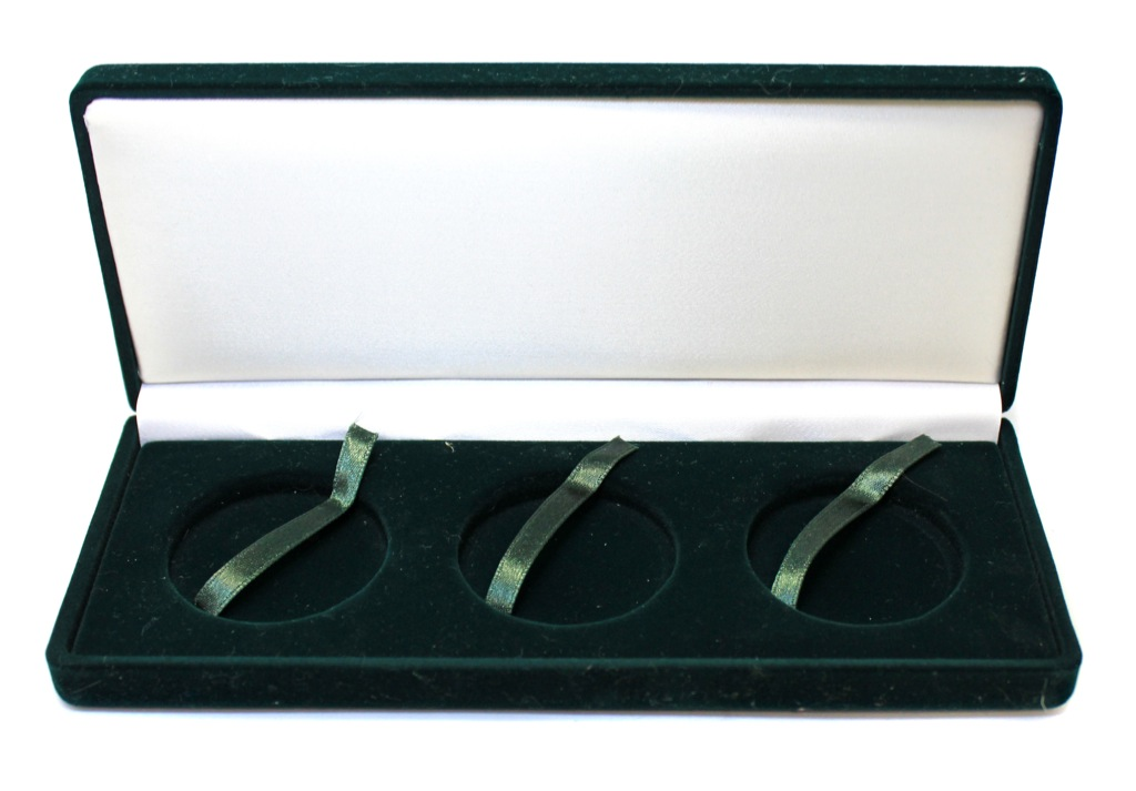 Футляр для монет (бархат, диаметр 4,3 см) (Россия)