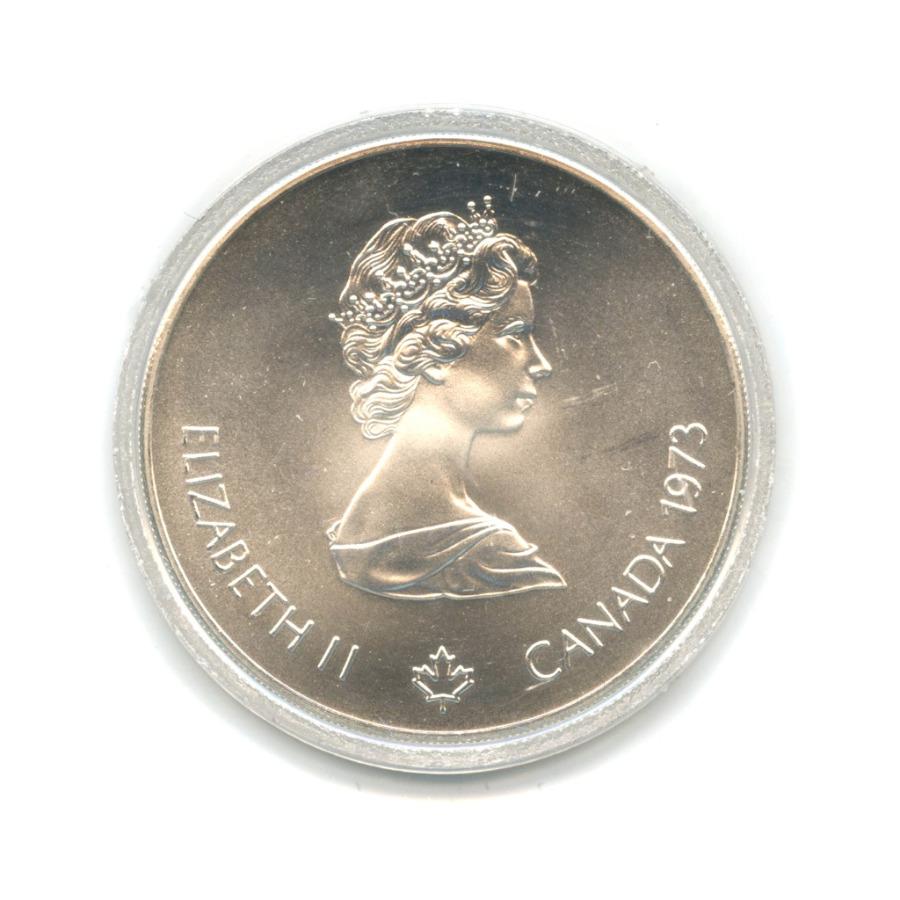 5 долларов — XXI летние Олимпийские Игры, Монреаль 1976 - Карта Канады (капсула невскрывалась) 1973 года (Канада)