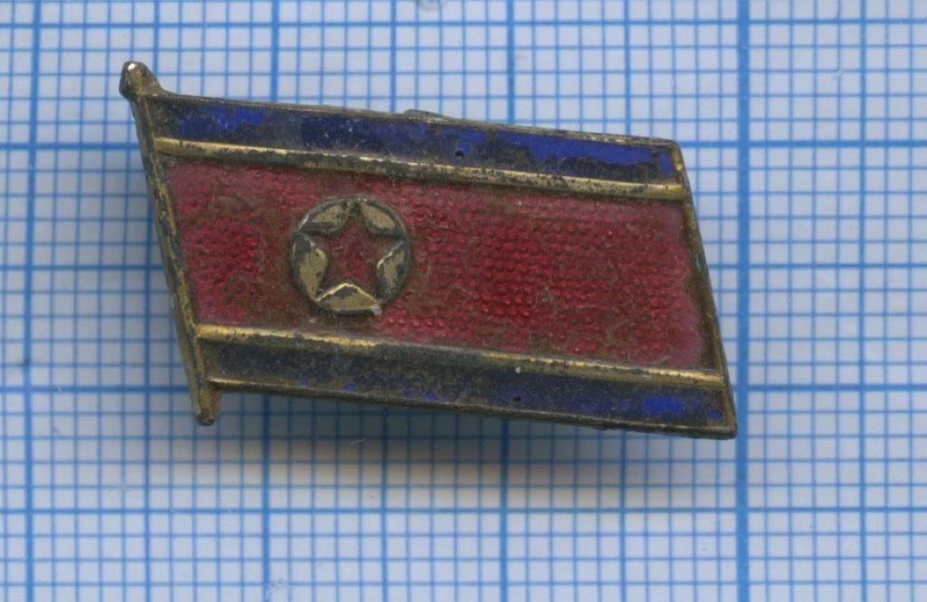 Знак «Флаг КНДР» (Северная Корея)