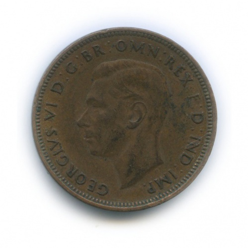 ½ пенни 1938 года (Австралия)