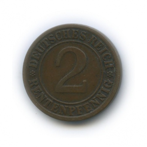 2 рентенпфеннига 1924 года J (Германия)