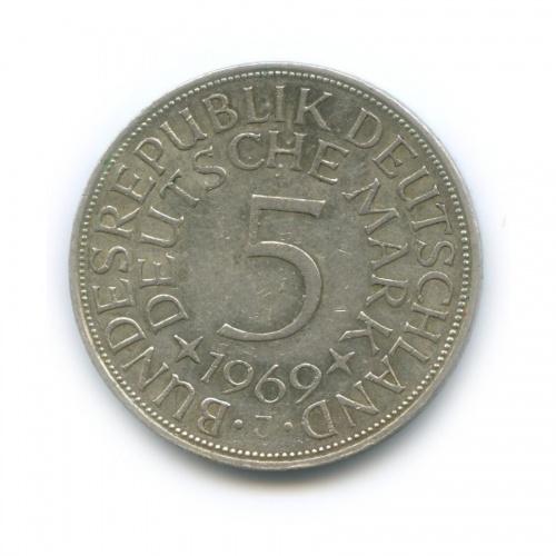 5 марок 1969 года J (Германия)